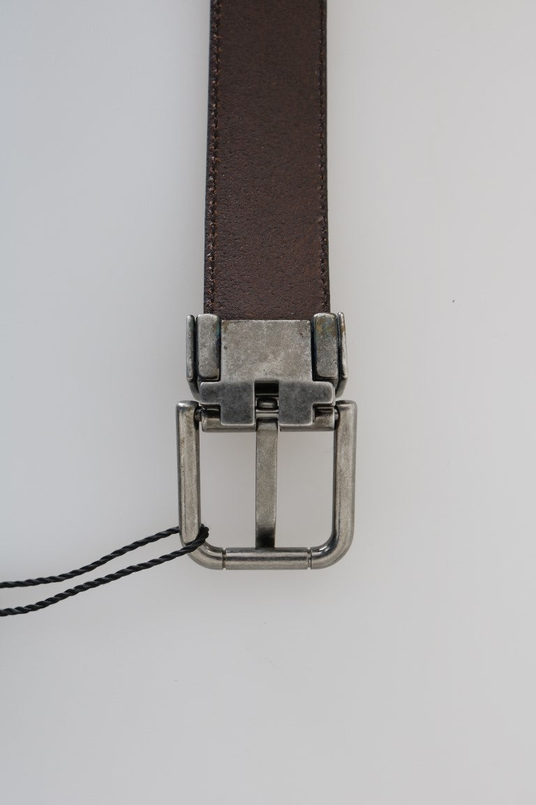 Blue Perforated Leather Belt - EnModaLife.Com