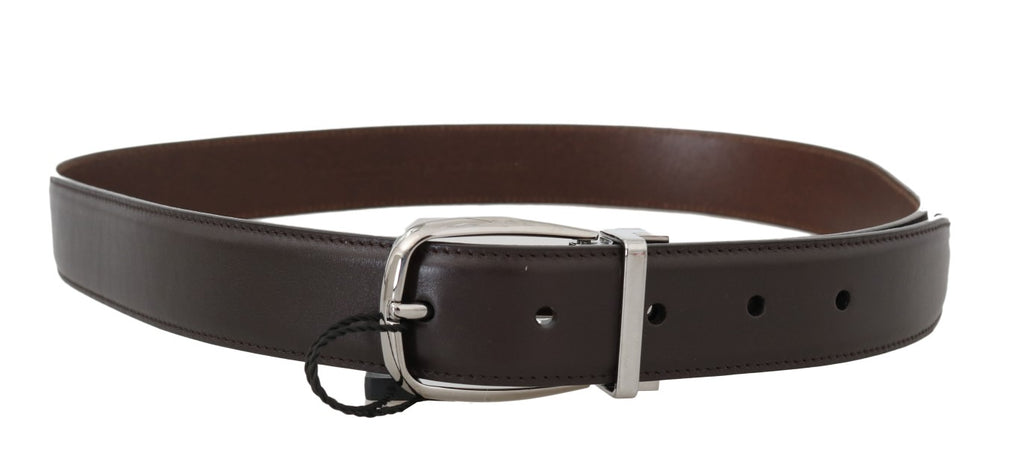 Brown Leather Silver Buckle Belt - EnModaLife.Com