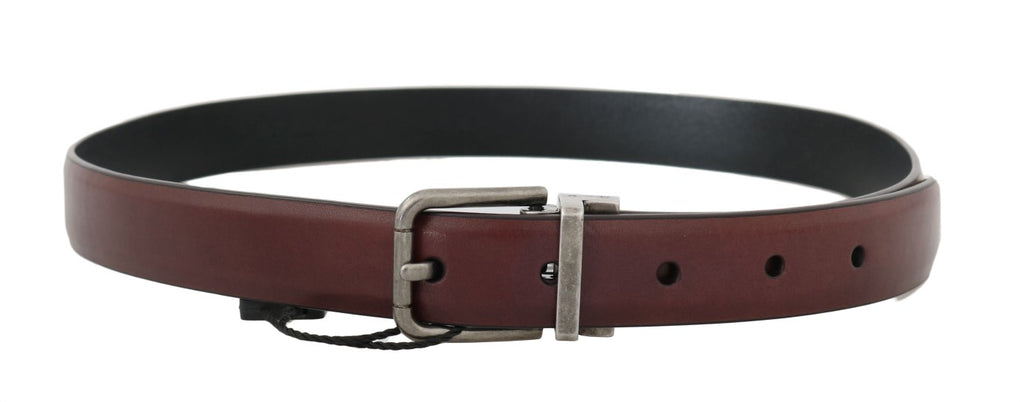 Brown Leather Gray Buckle Belt - EnModaLife.Com