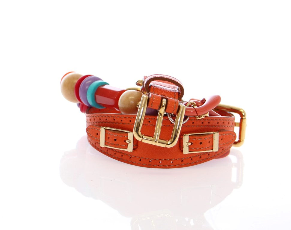 Multicolor Leather Metal Plastic Logo Belt - EnModaLife.Com