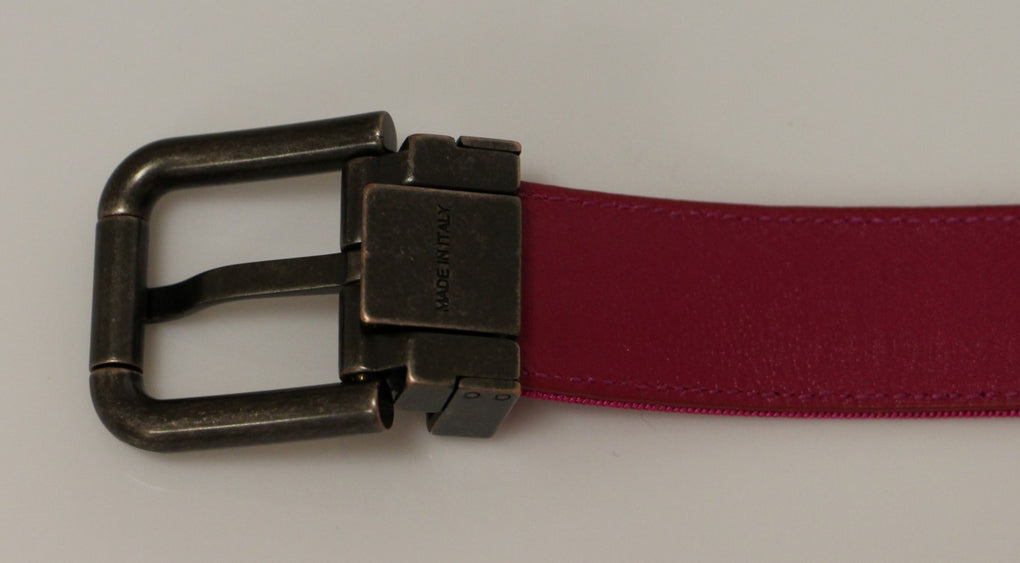 Pink Fabric Logo Belt - EnModaLife.Com