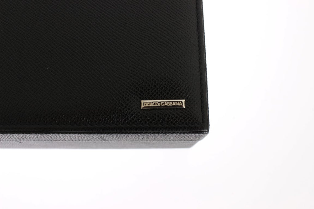 Black Dauphine Leather Watch Jewelry Sunglasses Case - EnModaLife.Com