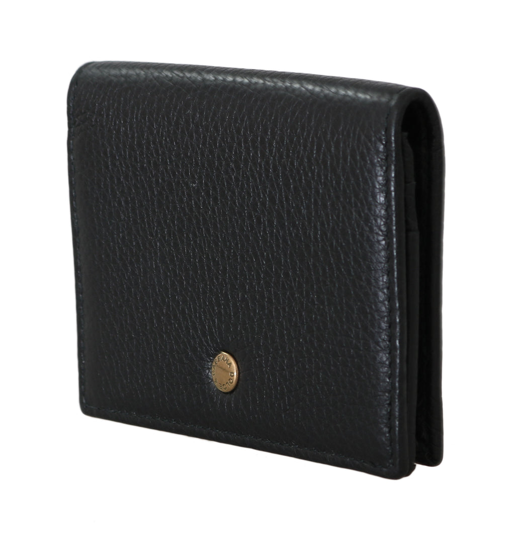 Black Leather ID Card Coin Holder Case Cover - EnModaLife.Com