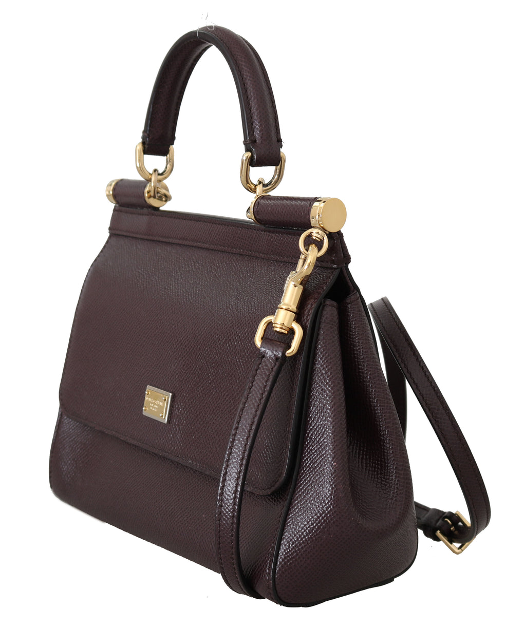 Purple MISS SICILY Dauphine Leather Hand Shoulder - EnModaLife.Com