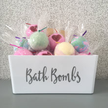 Load image into Gallery viewer, White Bath Bomb Storage Basket