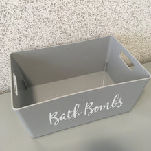 Load image into Gallery viewer, Grey Bath Bomb Storage Basket