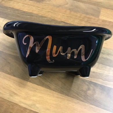 Black Personalised Bath Tub