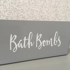 Grey Bath Bomb Storage Basket