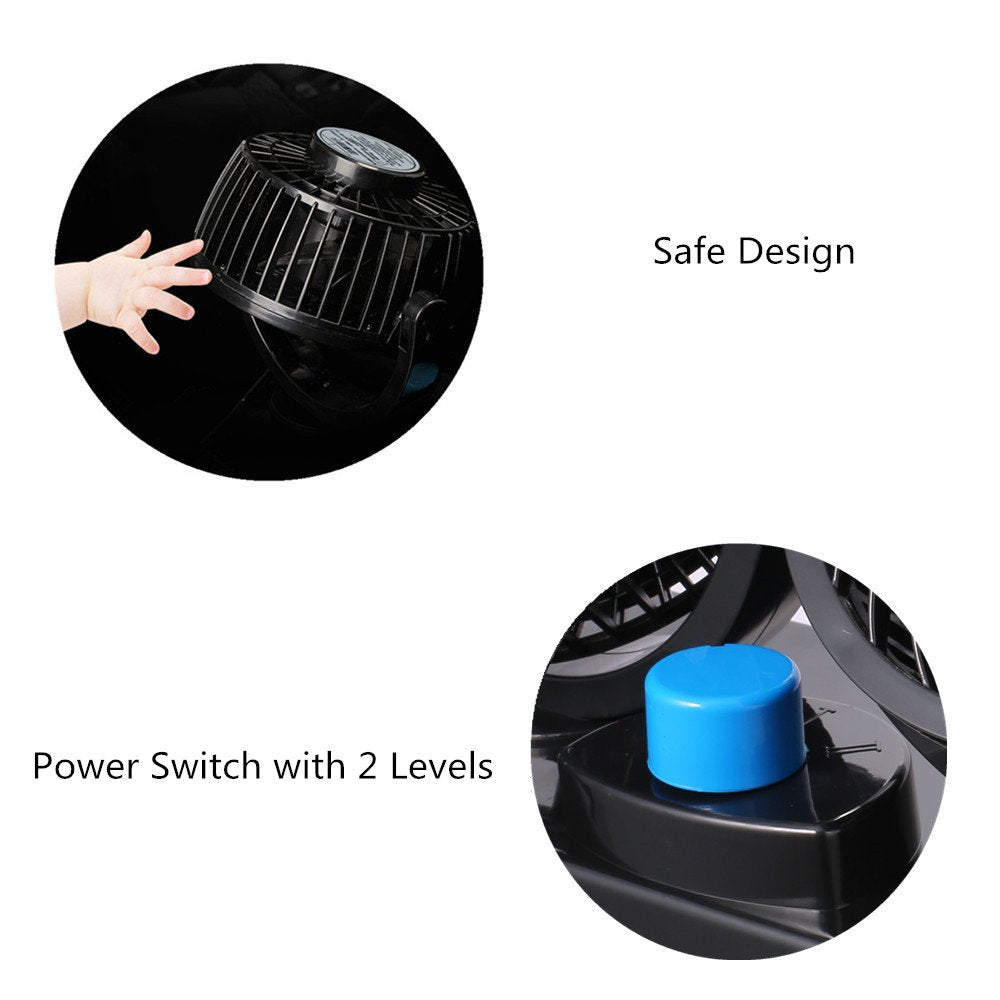 Dashboard Car Electric Fan