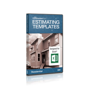 UDA ConstructionDocs™ Residential Estimating Templates