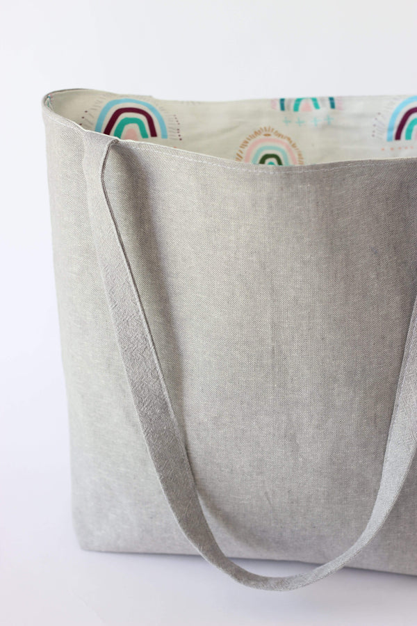 Inner Beauty Effects Tote x Gayle Kabaker Sharon Tote waxed canvas