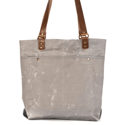 Inner Beauty Effects x Gayle Kabaker Elisa Tote waxed canvas