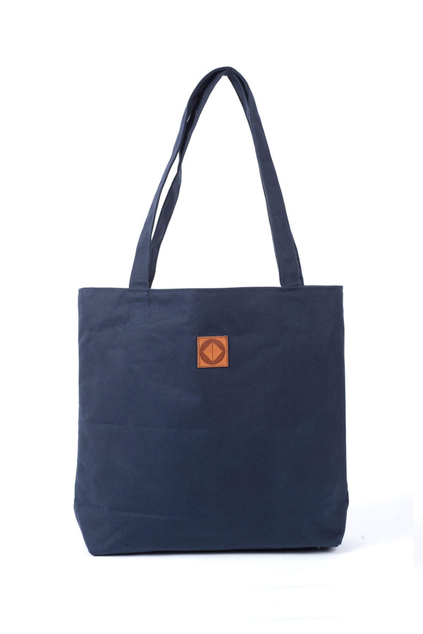 Test_Store_0423 Susan Tote, Navy waxed canvas