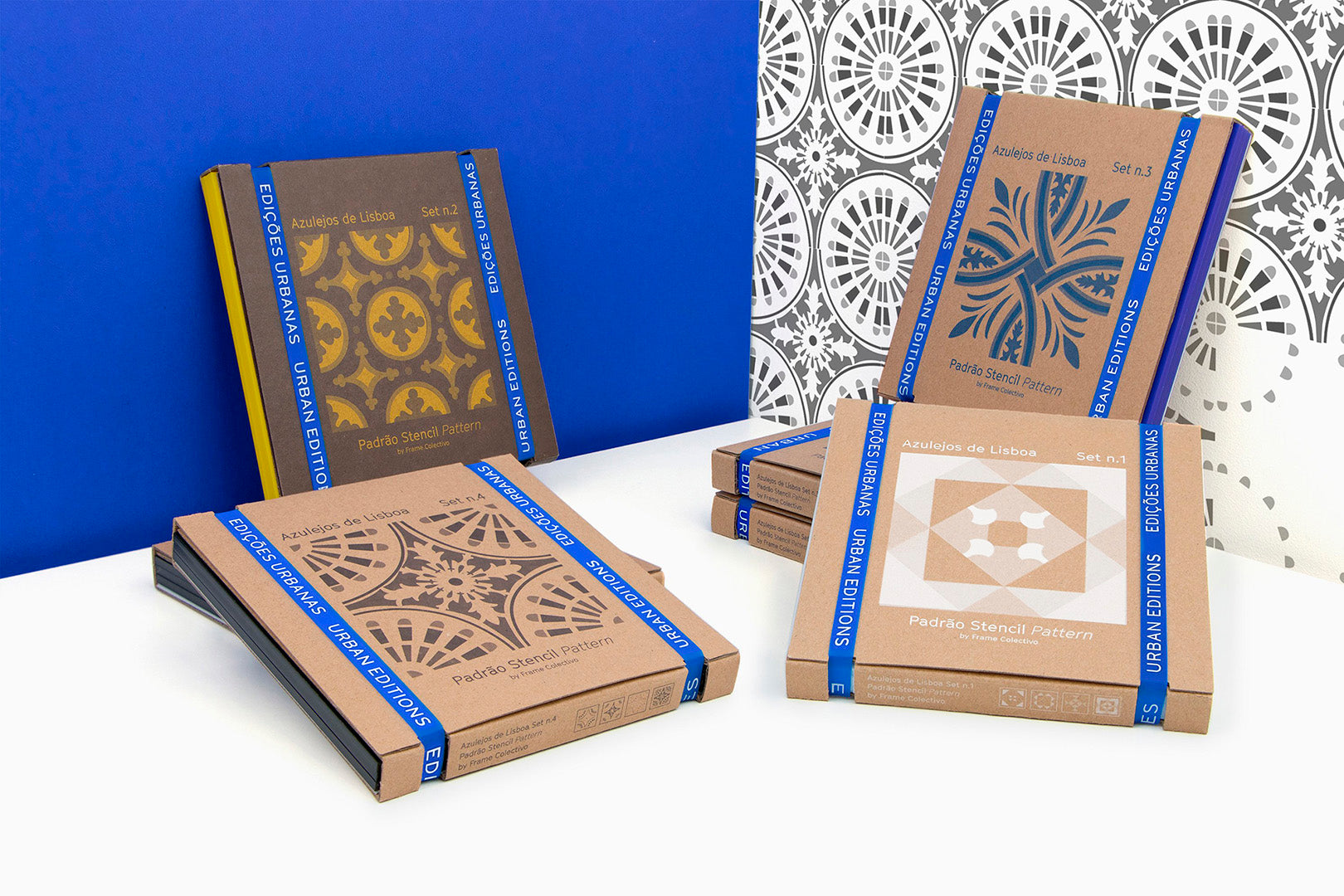 Reproduce Lisbon's tile with the DIY Stencil Set Pattern - Azulejos de fachada de Lisboa ® URBAN EDITIONS