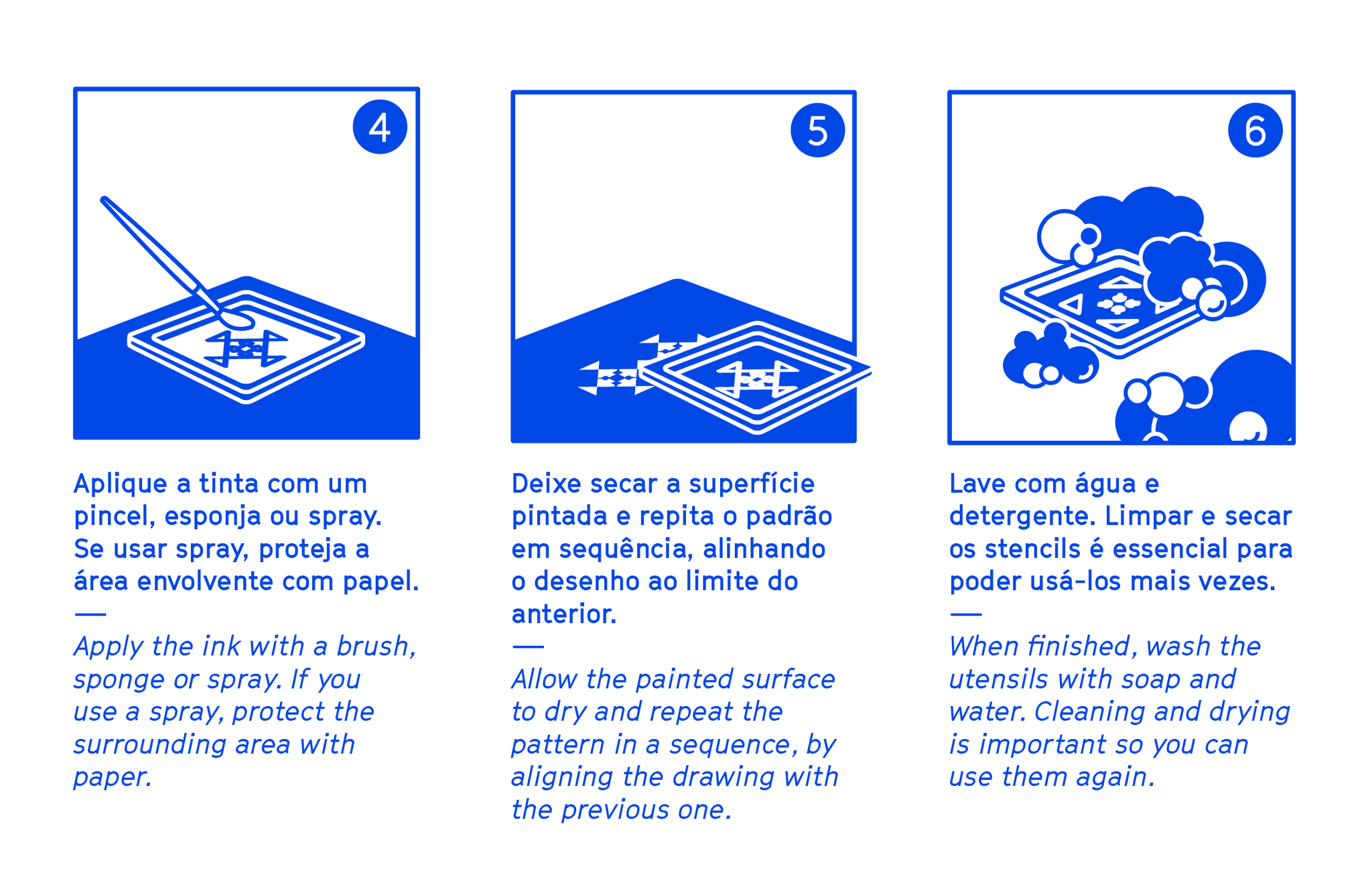 How to use the Stencil Set Pattern DIY - Azulejos de Lisboa - Part 2/2 --- Urban Editions - Frame Games