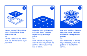 How to use the Stencil Set Pattern - Azulejos de fachada de Lisboa ® URBAN EDITIONS