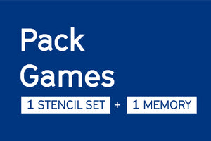 PACK Stencil Set Pattern, Azulejos de Lisboa (DIY) + Memory Game [TASCAS] --- Urban Editions - Frame Games