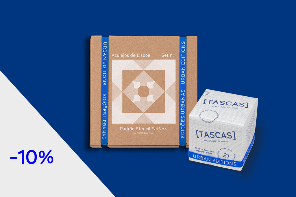PACK Stencil Set Pattern, Azulejos de Lisboa (DIY) + Memory Game [TASCAS] --- Urban Editions