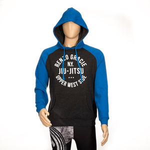 Upper West Side Hoodie - Heather Gray and Royal Blue