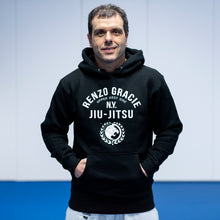 Load image into Gallery viewer, Renzo Gracie UWS All Black Hooded Pullover Sweatshirt