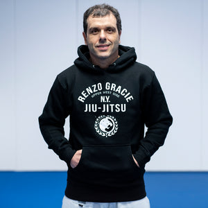 Renzo Gracie UWS All Black Hooded Pullover Sweatshirt