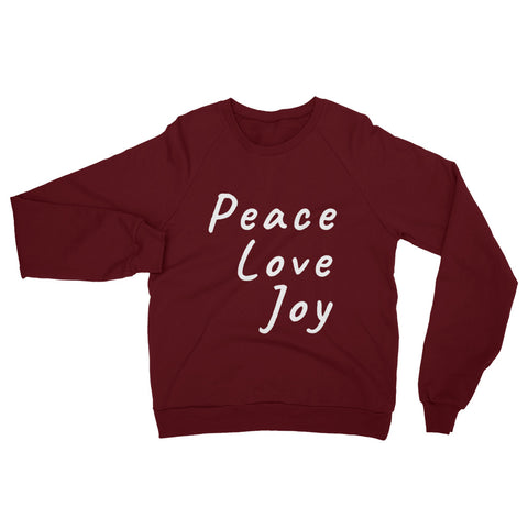 Holiday Sweatshirt -- Peace Love Joy