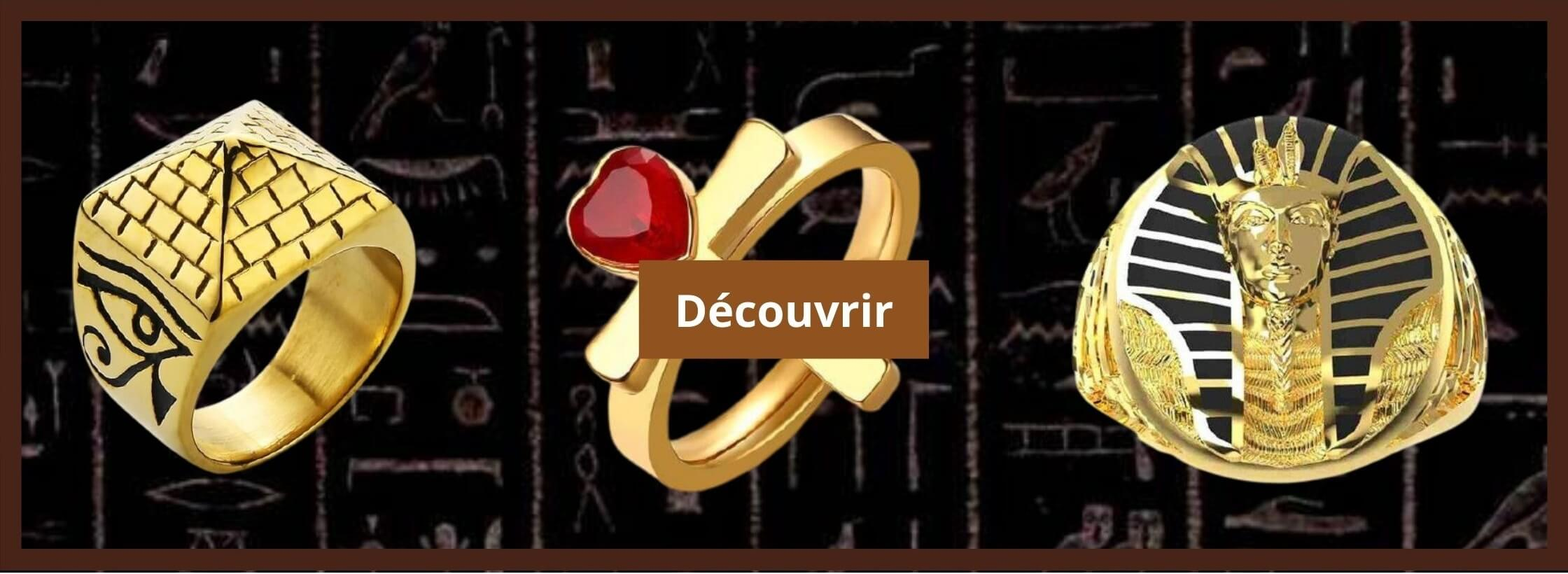 bague egyptien or