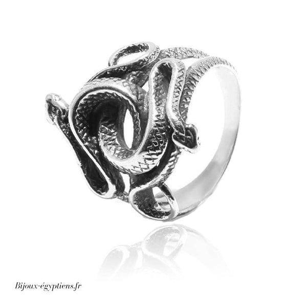 Bague <br> Double Serpent S925 - Bijoux-egyptiens.fr