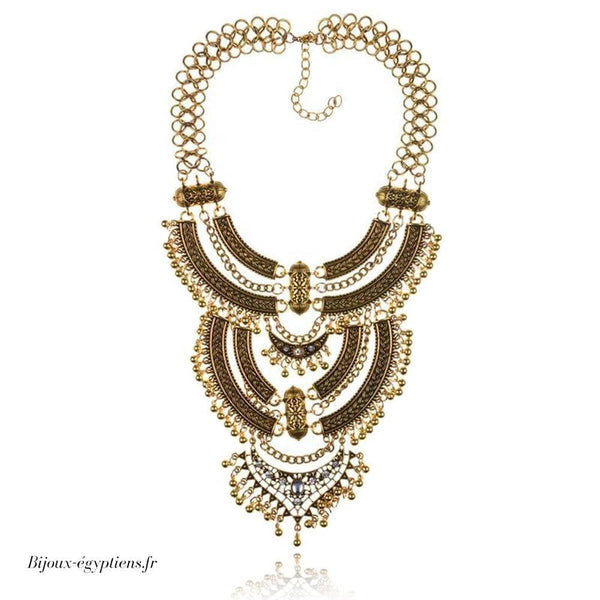 Collier Plastron <br> Multicolore - Bijoux-egyptiens.fr