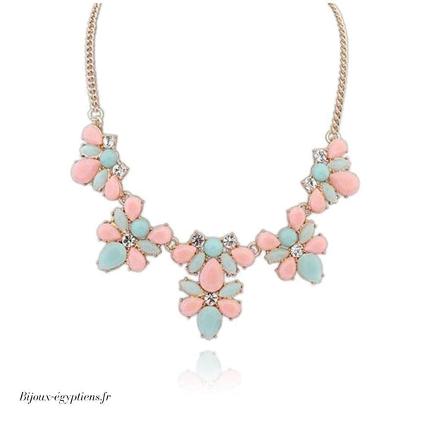 Collier Plastron <br> Rose - Bijoux-egyptiens.fr