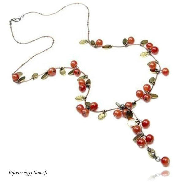 Collier Plastron <br> Rouge - Bijoux-egyptiens.fr