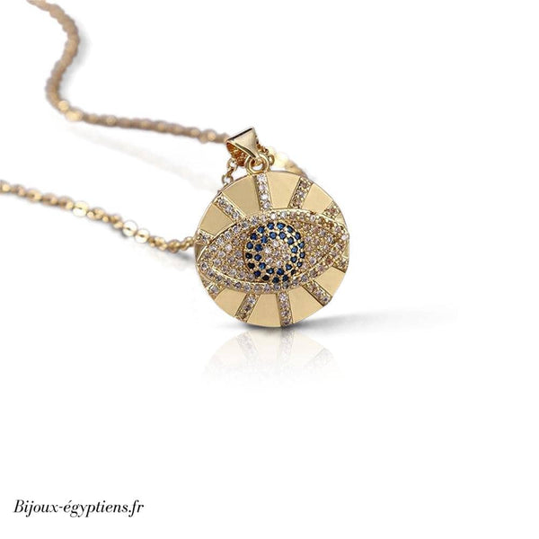 Collier <br> Style Egyptien Oeil - Bijoux-egyptiens.fr