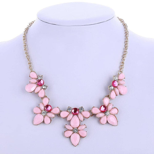 Collier Plastron <br> Pierres Rose - Bijoux-egyptiens.fr
