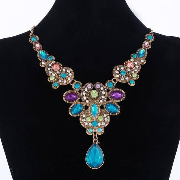 Collier Plastron <br> Coloré - Bijoux-egyptiens.fr