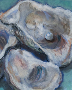 3 Louisiana Oysters Soft Pastel PRINT