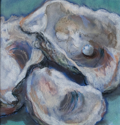 3 Louisiana Oysters Original Soft Pastel Painting