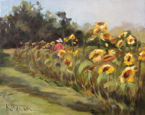 The Sunflower Gardener Fine Art Print