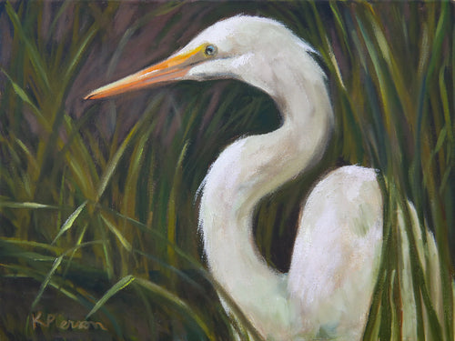 Louisiana Egret Fine Art Print