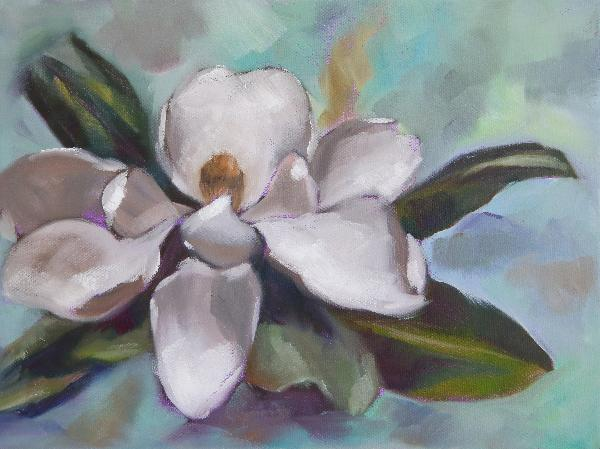 Magnolia Original Oil Painting