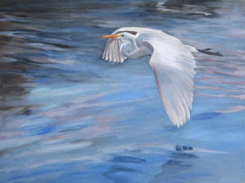 Flying Egret PRINT