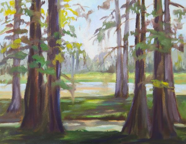 Swamp Sunrise II Original Oil Painting