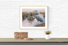 Load image into Gallery viewer, Egret at Sunset PRINT