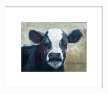 Load image into Gallery viewer, Black and White Holstein Cow Original Oil Painting