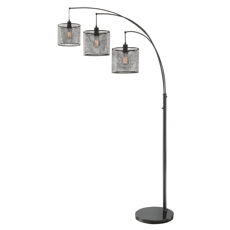 Hamilton Black 3 Arm Floor Lamp