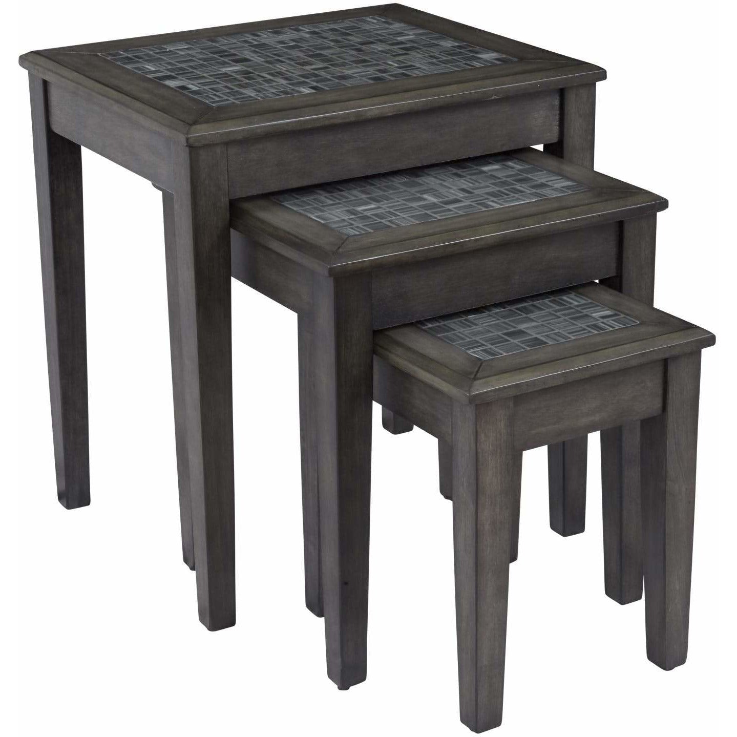 Grey Mosaic Nesting Tables