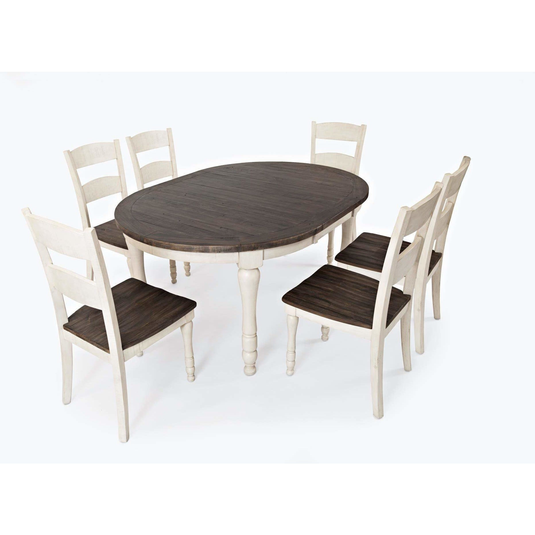 Madison County Oval Dining Set - White