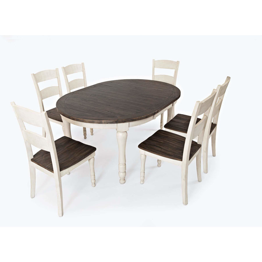 Madison County Oval Dining Set   White