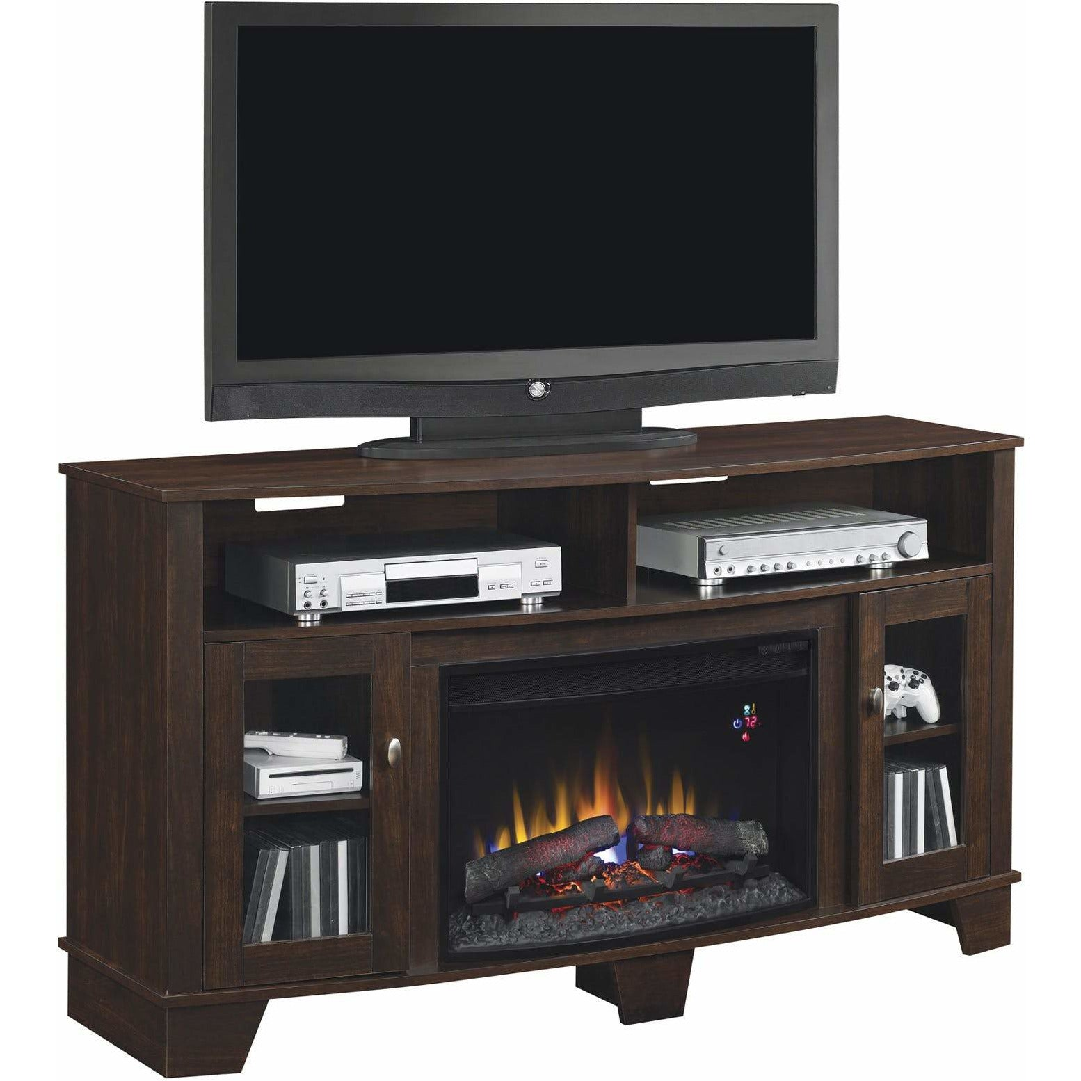 La Salle TV Stand with Fireplace Insert