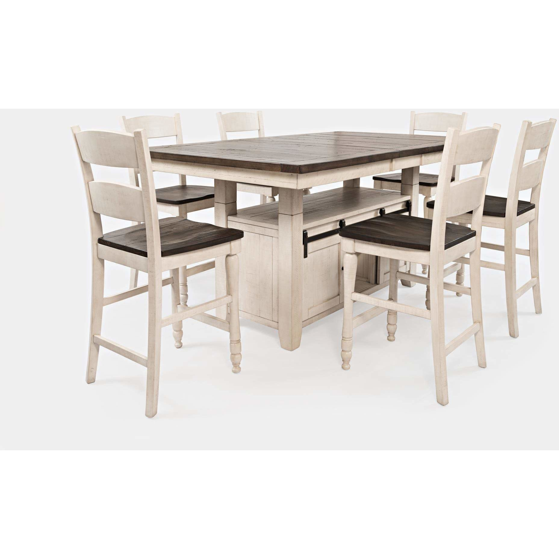 Madison County Counter Dining Set - White