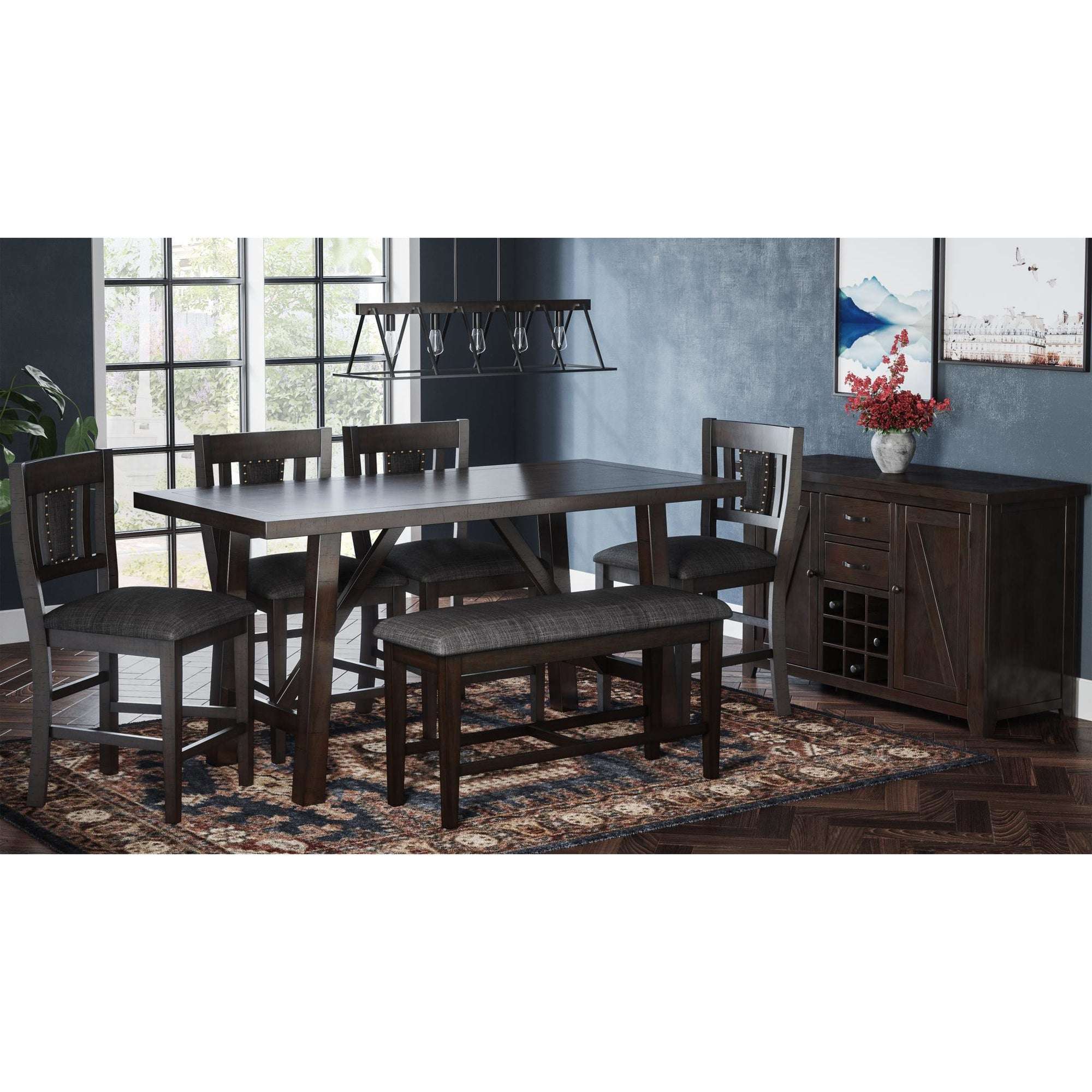 American Rustics Counter Dining Set